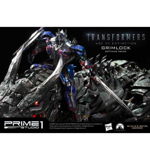Prime 1 Studio Transformers Age Of Extinction Grimlock Statue Optimus Version