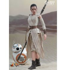Hot Toys MMS337 Star Wars: The Force Awakens Rey and BB-8 1/6th scale Collectible Set