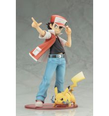 Kotobukiya Pokemon - Red with Pikachu ArtFX J Statue