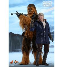 Hot Toys MMS376 Star Wars: The Force Awakens Han Solo and Chewbacca 1/6th scale Collectible Figures Set