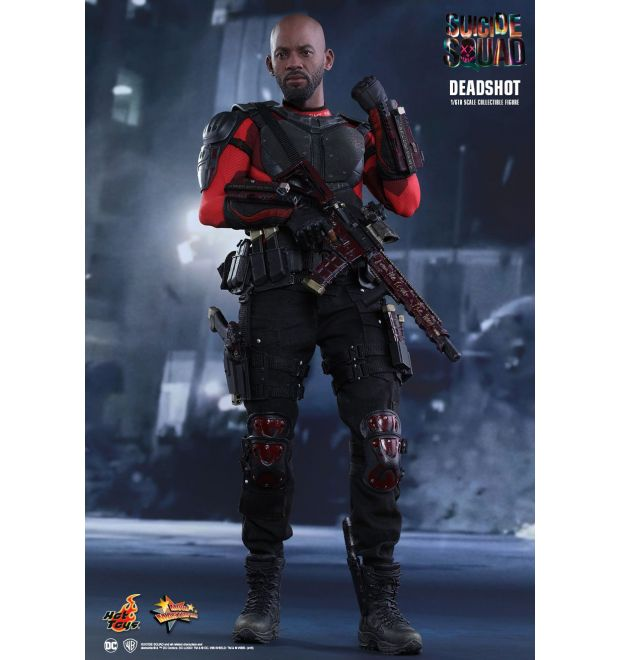 Deadshot 1//6 scale toy Suicide Squad Red Pistol w//Drop Leg Holster