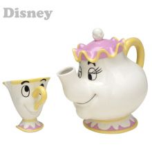 Beauty & The Beast Mrs. Potts & Chip Tea Set with Gift Box