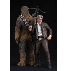 Kotobukiya Star Wars: The Force Awakens - Han Solo & Chewbacca ARTFX+ Statue