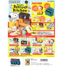 Re-Ment Peanuts Snoopy's Retro Kitchen (Set of 8)
