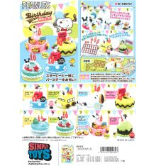 Re-Ment Peanuts Snoopy's Birthday Cake (Set of 8)