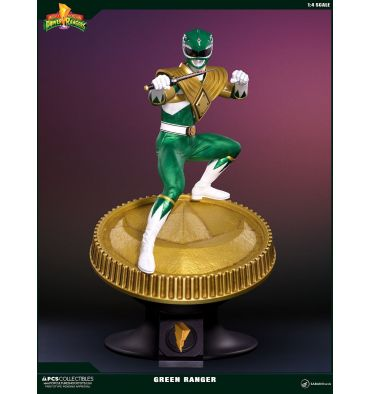 PCS Collectibles Mighty Morphin' Power Rangers - Green Ranger 1:4 Statue Retail version