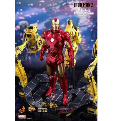 Hot Toys MMS462D22 IRON MAN 2 MARK IV WITH SUIT-UP GANTRY 1/6TH SCALE COLLECTIBLE SET