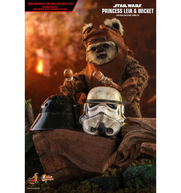Hot Toys Mms551 Star Wars Return Of The Jedi Princess Leia And Wicket 1 6th Scale Collectible Figures Set Simply Toys