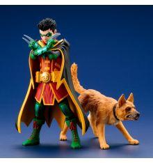Kotobukiya Super Sons - Robin & Bat-Hound Two-Pack ArtFX+ Statue